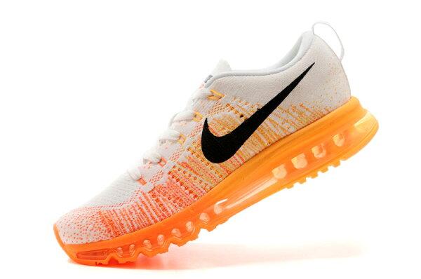 Nike air max 全掌彩虹氣墊編織 男生運動鞋 休閒鞋 慢跑鞋 白橘紅