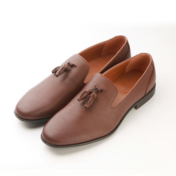 2MUCH流蘇樂福鞋紳士-淺棕色(40-44)