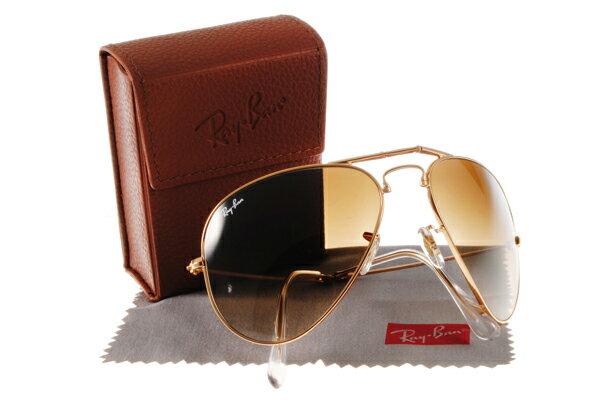 Ray Ban 雷朋 金邊漸層茶 RB3479 太陽眼鏡 折疊