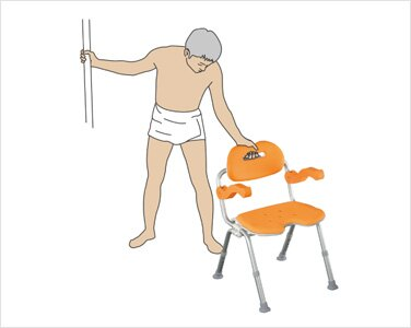 Panasonic 可收折U型洗澡椅●高度6段可調及防滑設計 (橙色) *日本進口*『康森銀髮生活館』無障礙輔具專賣店 4