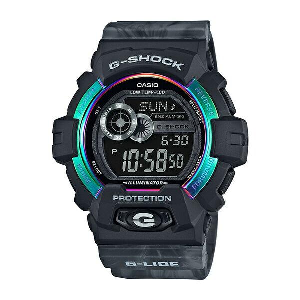 CASIO G-SHOCK GLS-8900AR-1時尚運動腕錶/雲彩黑55mm