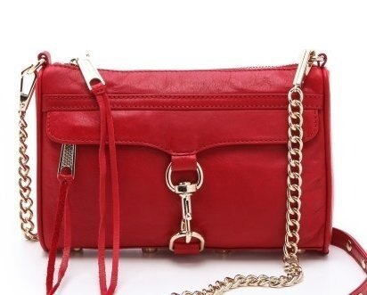 【Cadiz】美國正品 Rebecca Minkoff 大紅色銀釦鍊條單肩側背包 [Mini Mac/ 代購/ 現貨] 0