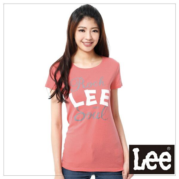 【 390元優惠↘ 】Lee Logo 印刷短袖T恤 -女款(橘)
