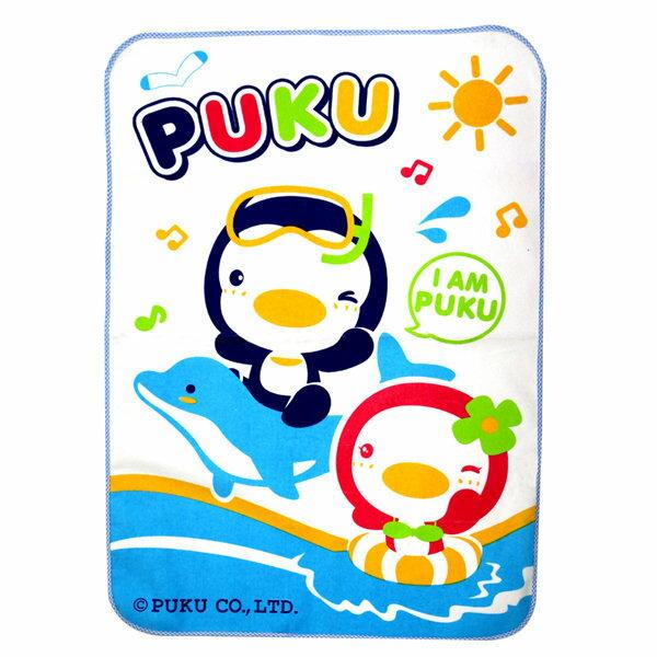 PUKU藍色企鵝 - 超柔防濕墊 55x80cm (水藍/粉紅) 2