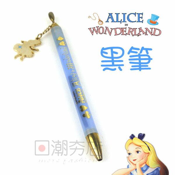 ^~日潮夯店^~   DISNEY 迪士尼 ALICE 愛麗絲 吊飾 油性 黑筆 ^(.7