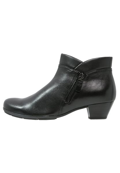 Gabor 歐美側拉鍊時尚踝靴 黑 3