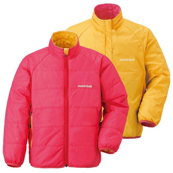 【鄉野情戶外專業】 mont-bell |日本| THERMAWRAP 雙面穿化纖外套/保暖外套/1101449 【兒童款100-120】