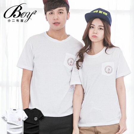 ☆BOY-2☆ 【OE60236】情侶韓版潮流素面黑白短袖T恤 0