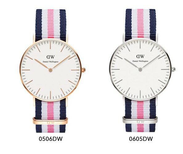 瑞典正品代購 Daniel Wellington 0605DW 銀  尼龍 帆布錶帶 女錶手錶腕錶 36MM 2