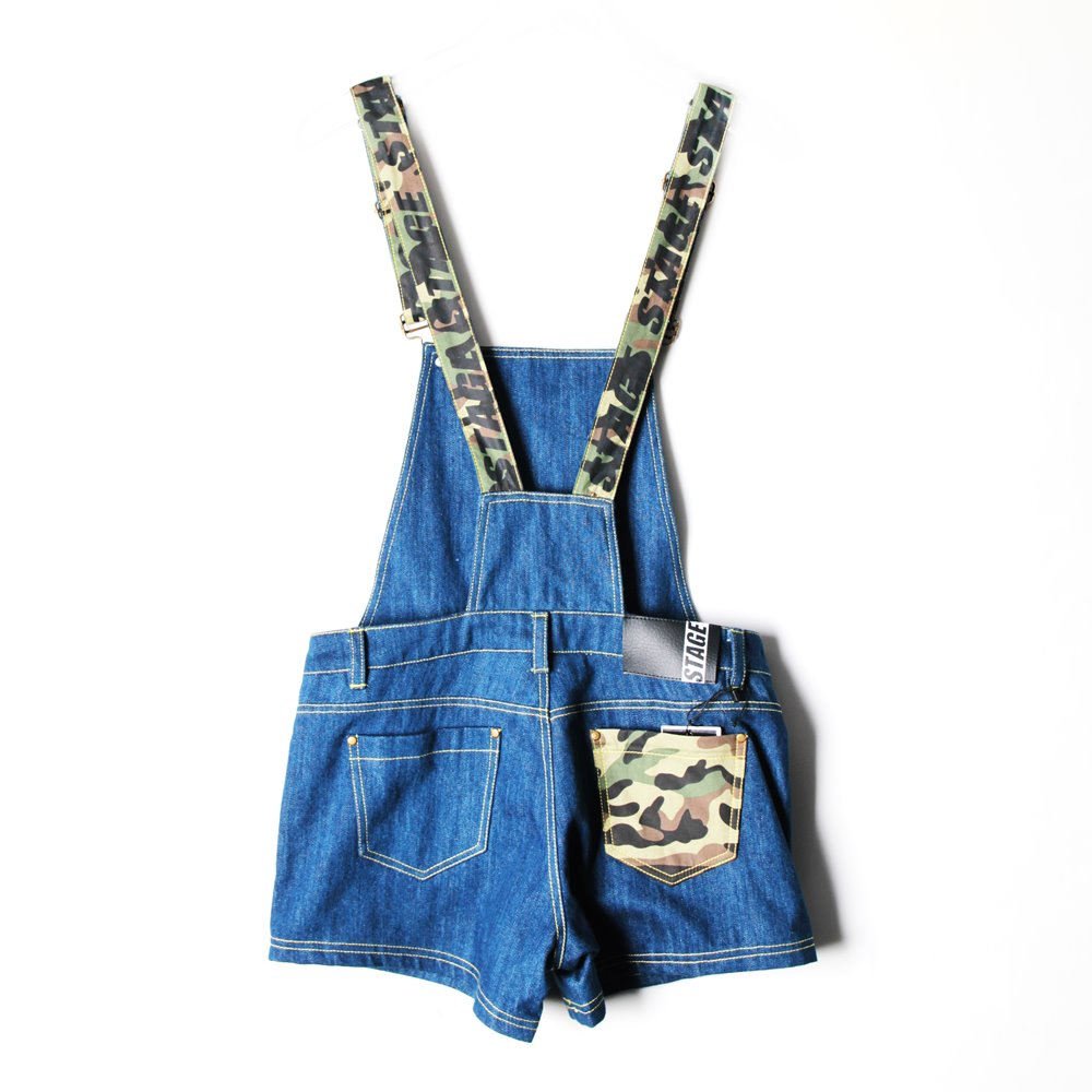 STAGE SHORT OVERALLS 藍色 3