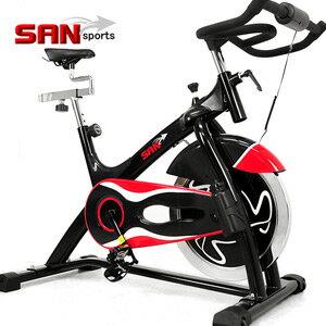 【SAN SPORTS 山司伯特】黑爵士23KG飛輪健身車(6倍強度.23公斤飛輪車.室內腳踏車.推薦.哪裡買便宜)C165-023