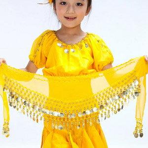 兒童肚皮舞雪紡腰鍊^(腰鏈.腰巾.表演服飾.演出服飾.舞蹈服飾.肚皮舞腰鍊.肚皮舞腰帶.肚