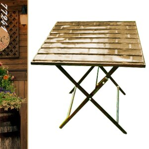60cm鋁製竹節正方折合桌(折疊方型茶几.置物摺疊桌.洽談桌.餐桌子.休閒桌.庭園桌.傢俱家具傢具特賣會)