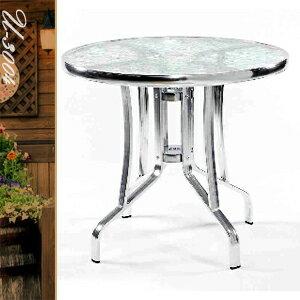 60CM鋁製玻璃圓桌(圓茶几.置物桌.洽談桌.餐桌子.休閒桌.庭園桌.傢俱家具傢具特賣會)