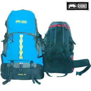 【RHINO 犀牛】TRAIL 43L超輕透氣背包(附可拆式防雨罩)露營用品.登山用品.登山包.後背包