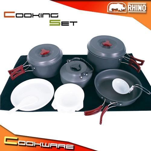 ^~RHINO 犀牛^~四人鋁合金套鍋.露營用品.登山用品.野炊 ~  好康折扣