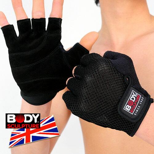 【BODY SCULPTURE】BW-84 舒適運動手套(半指手套.露指手套.健身手套.運動防護具.便宜)