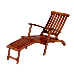中國木折合躺椅.庭院家具