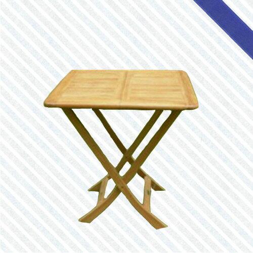 70cm柚木方折桌(木桌子.原木桌.庭院桌.庭院傢俱.便宜)