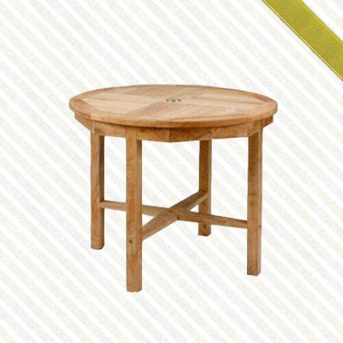 90cm柚木圓桌(庭院桌.木桌子.原木桌.庭院傢俱.便宜)