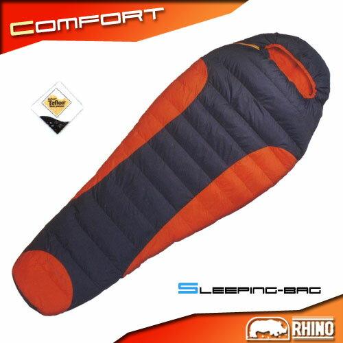 【RHINO】Treklite1400超輕耐寒羽絨睡袋(羽毛.露營用品.戶外.登山.休閒.便宜)