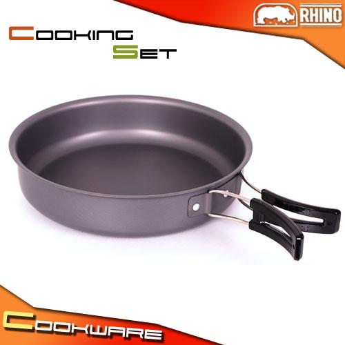 [RHINO 犀牛] 鋁合金煎盤(附收納網袋)(煎鍋.平底鍋.露營用品.登山用品.野炊)