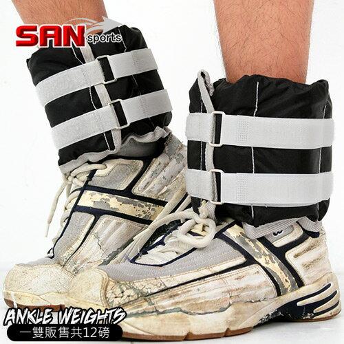 【SAN SPORTS 山司伯特】調整型12磅綁腿沙包(12磅重力沙袋.取代啞鈴.舉重量訓練.運動健身器材.推薦)