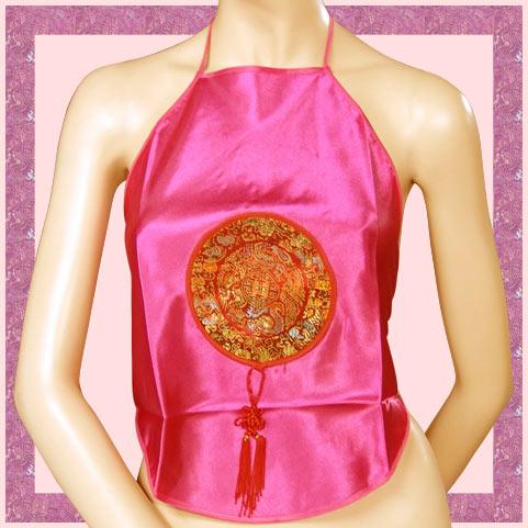 中國圖紋繞頸綁帶肚兜.流行女裝