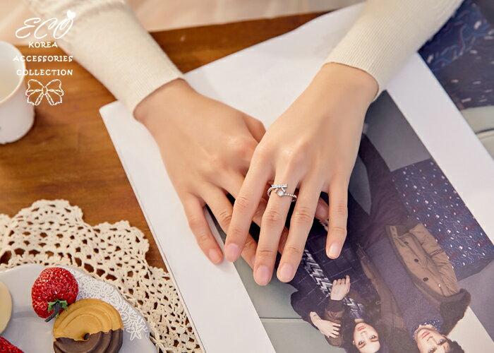 蝴蝶結,鑽,925純銀,純銀戒指,925純銀戒指,純銀飾品,戒指
