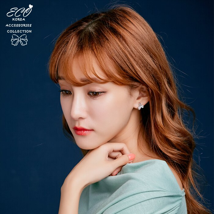 水鑽耳環,水鑽,蝴蝶結,蝴蝶結耳環,韓國飾品,耳環,夾式耳環