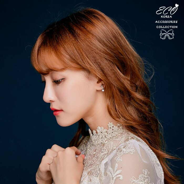 垂式耳環,水鑽,十字,水鑽耳環,夾式耳環,韓國飾品,耳環