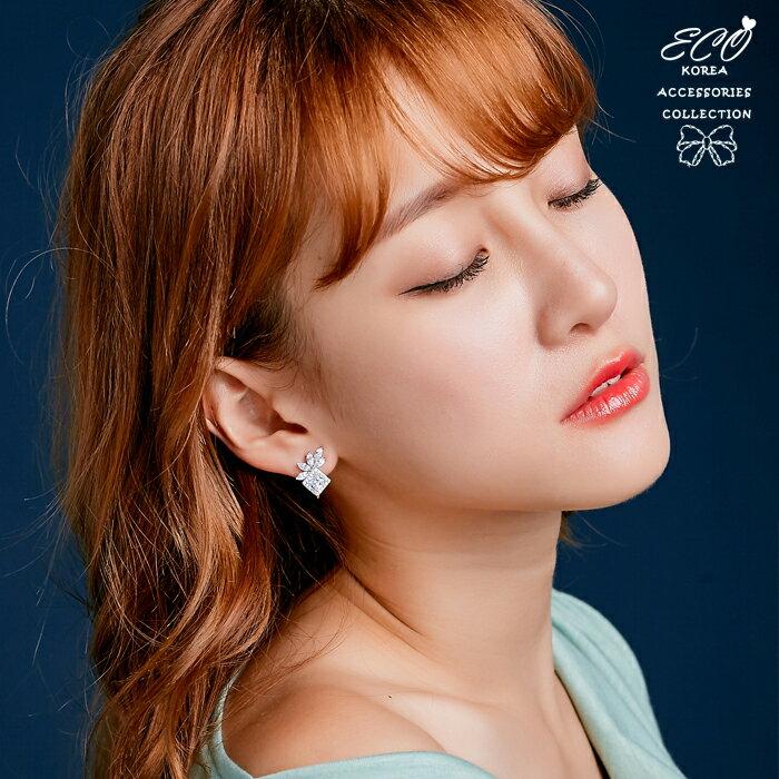 方鑽,葉片鑽,成熟,夾式耳環,無耳洞耳環,韓製,韓國,耳環