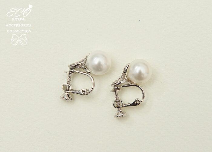 螺旋,緞帶,立體,鑽,夾式耳環,無耳洞耳環,韓製,韓國,耳環