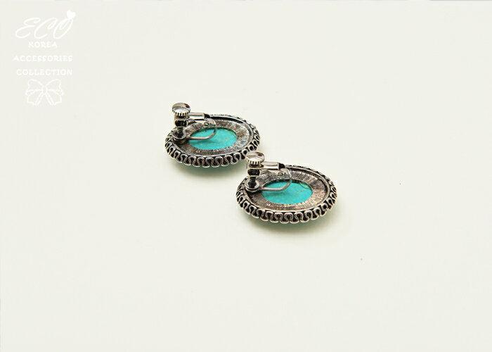 原石夾式耳環,夾式耳環,無耳洞耳環,螺旋夾耳環,耳環
