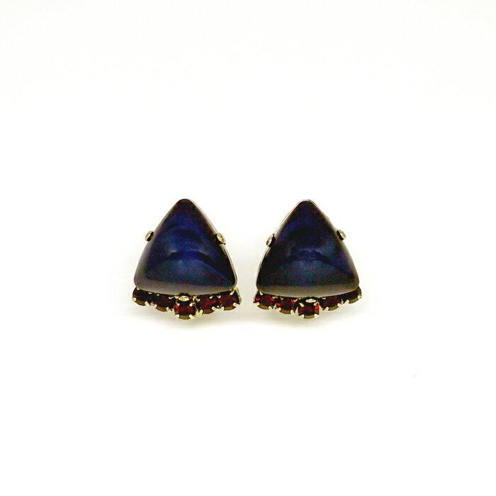 琥玻,小排鑽,,雙色,夾式耳環,無耳洞耳環,韓製,韓國,耳環