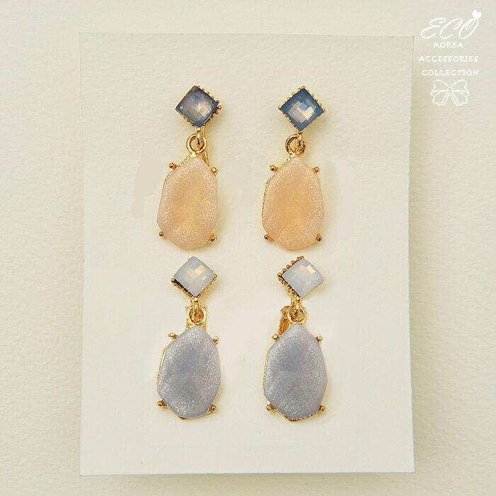 果凍,亮粉,甜美,夾式耳環,無耳洞耳環,韓製,韓國,耳環