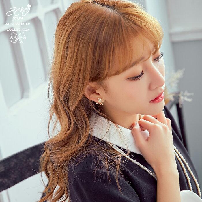 玫瑰樓空夾式耳環,夾式耳環,無耳洞耳環,韓製,韓國,耳環