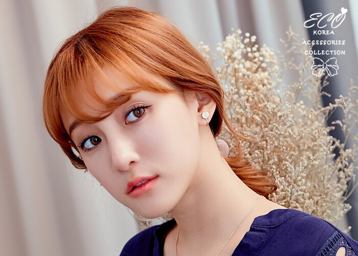 星球,個性,簡約,雙色,夾式耳環,無耳洞耳環,韓製,韓國,耳環