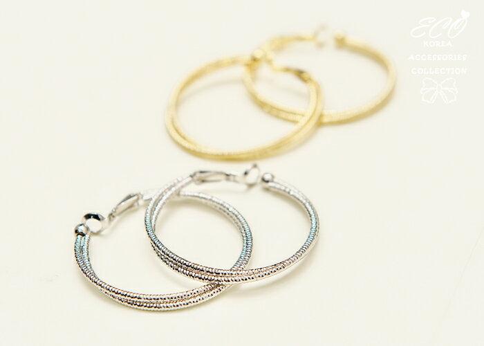 圓圈夾式耳環,夾式耳環,無耳洞耳環,螺旋夾耳環