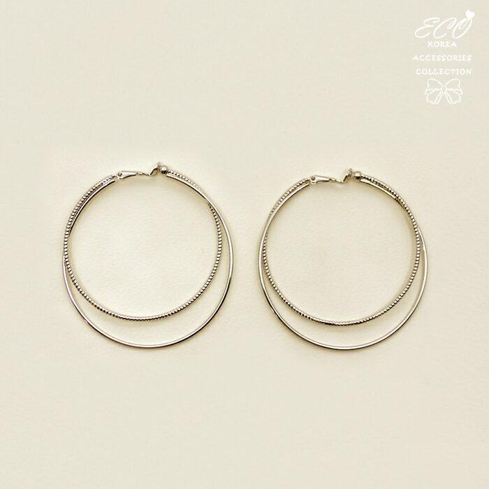 經典圓圈夾式耳環,夾式耳環,無耳洞耳環,螺旋夾耳環