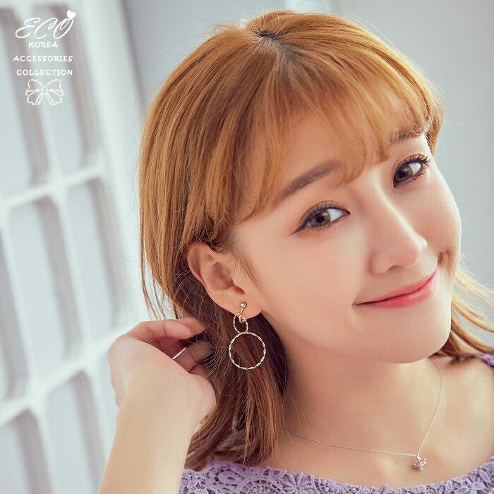 圓圈,經典圓圈,個性風,夾式耳環,無耳洞耳環,韓製,韓國,耳環