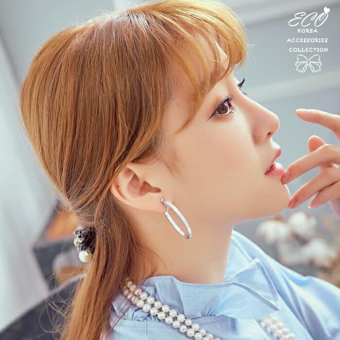 橢圓形,個性,歐美,圓圈,2色,夾式耳環,無耳洞耳環,韓製,韓國,耳環