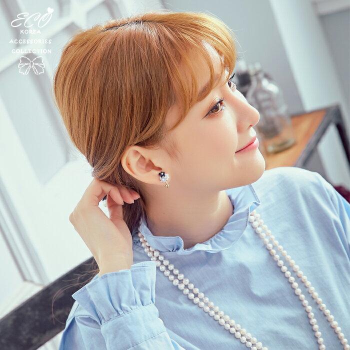 花朵夾式耳環,夾式耳環,無耳洞耳環,韓製,韓國,耳環