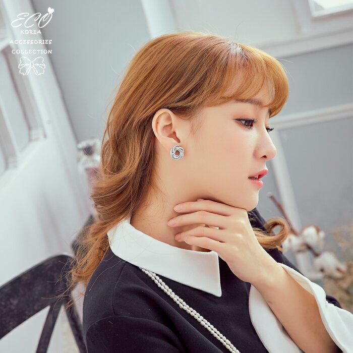 圈圈,麻花圈,個性,夾式耳環,無耳洞耳環,韓製,韓國,耳環