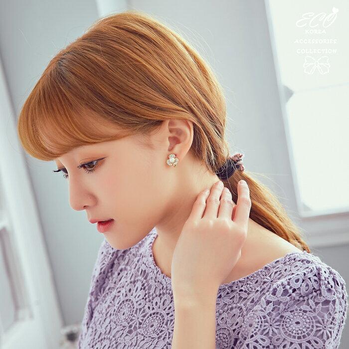 花朵夾式耳環,夾式耳環,無耳洞耳環,螺旋夾耳環