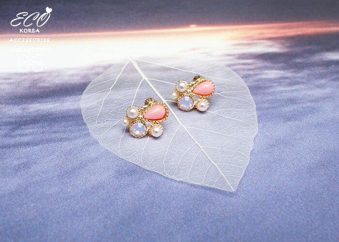 蛋白石夾式耳環,無耳洞耳環,螺旋夾耳環