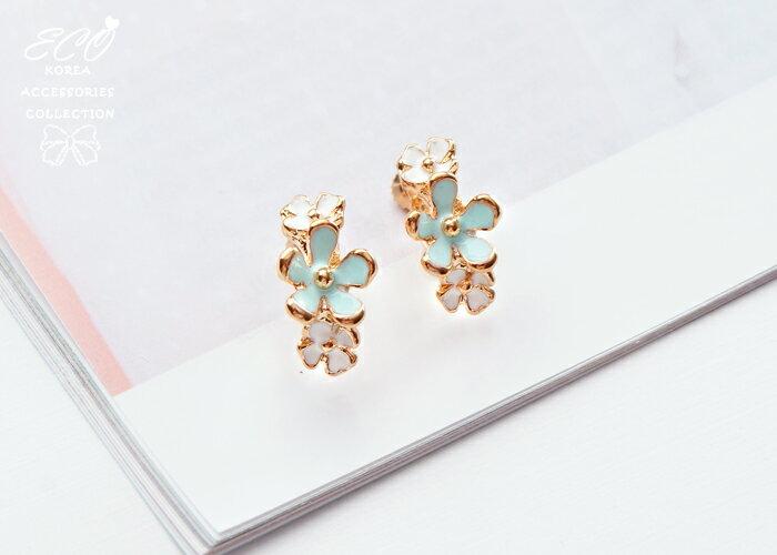 花朵夾式耳環,無耳洞耳環,螺旋夾耳環