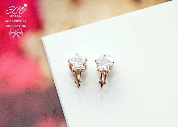 珍珠夾式耳環,無耳洞耳環,螺旋夾耳環