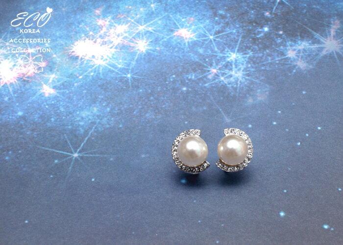 珍珠夾式耳環,夾式耳環,無耳洞耳環,婚禮必備夾式耳環