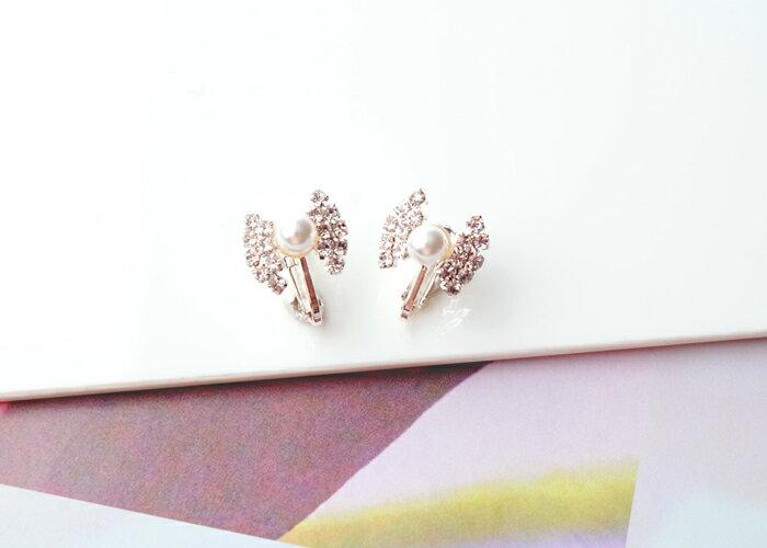 蝴蝶結夾式耳環,無耳洞耳環,螺旋夾耳環